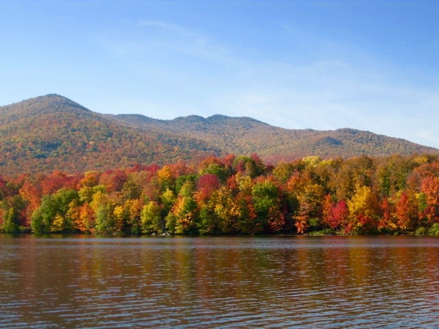 View of Adirondack mountain foliage