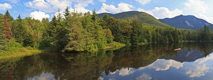 Marcy dam in the high peaks region of the adirondack mountains of new york