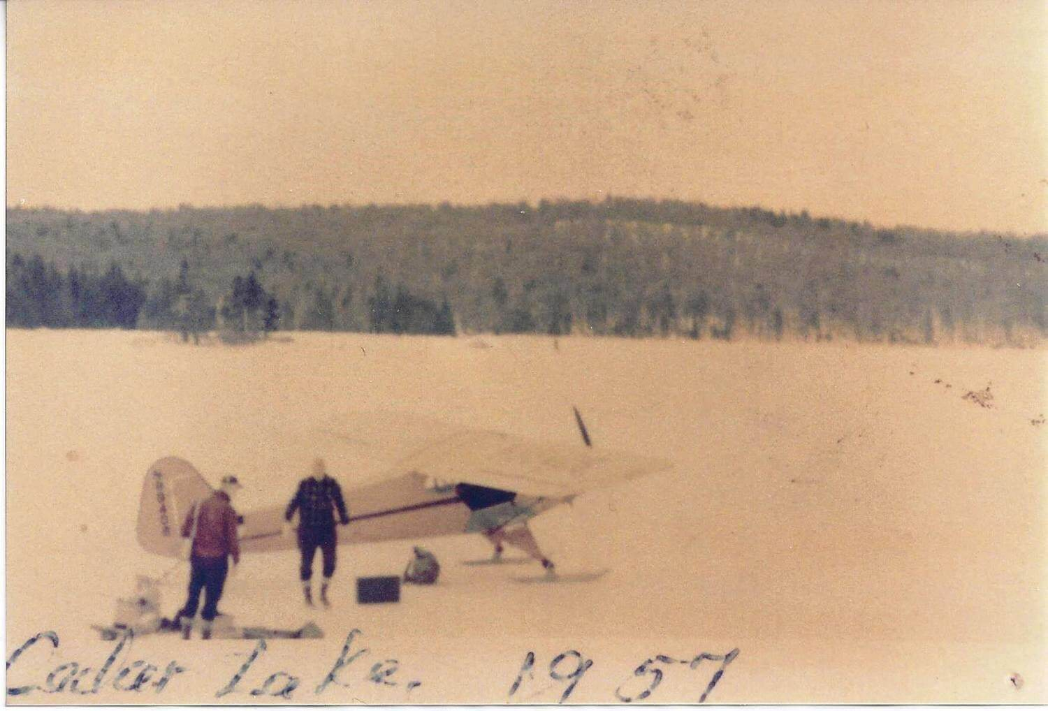 Seaplane on Cedar Lake in 1957