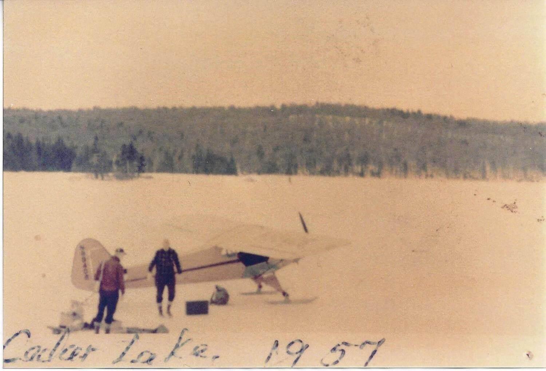 Seaplane on Cedar Lake in 1957