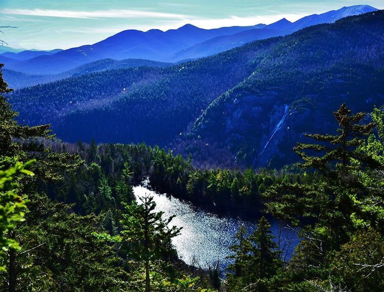 Lake in the The Adirondack Mountains