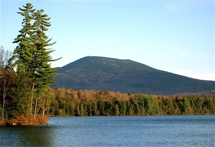 View of Blue Mountain from South Pond