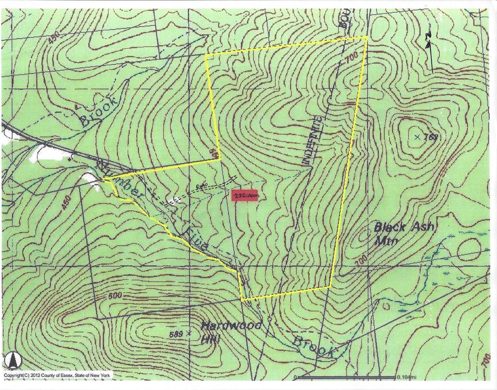 Jay-272 acres- Plot Map