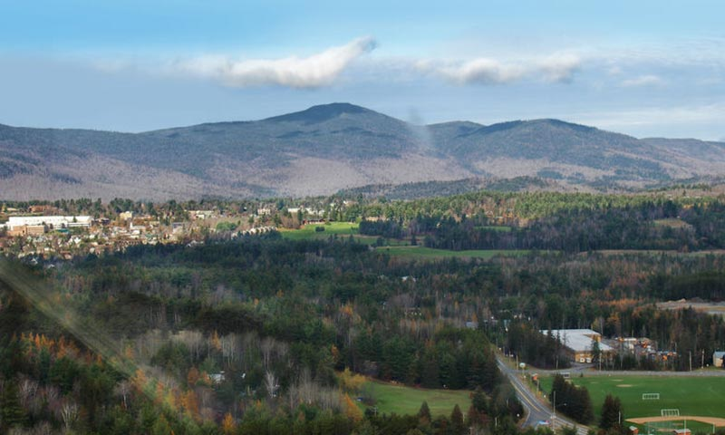 Aerial View of Lake Placid