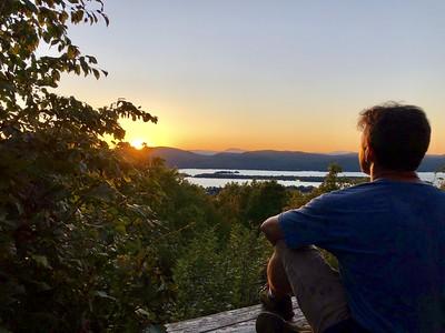 Sunset on Pilot's Knob